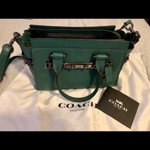 Coach Swagger 27 bag turquoise